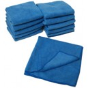 Prosope din microfibra 100% ultrafina de culoare albastra Marime: 35cm x 35cm (12 buc)